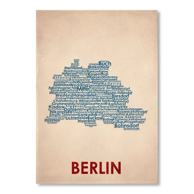 Americanflat Berlin Typography Wrapped on Canvas