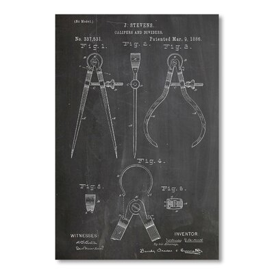 Americanflat Calipers by House of Borders Graphic Art in Grey