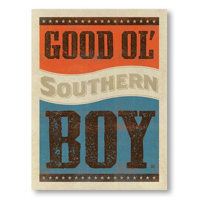 Americanflat Good Ol Boy by Anderson Design Group Typography Wrapped on Canvas