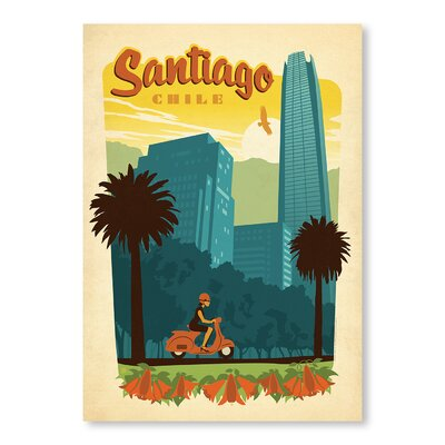 Americanflat Santiago by Anderson Design Group Vintage Advertisement Wrapped on Canvas