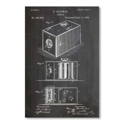 Americanflat Camera by House of Borders Graphic Art in Grey