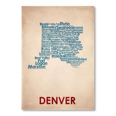 Americanflat Denver Typography Wrapped on Canvas