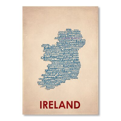 Americanflat Ireland Typography on Canvas