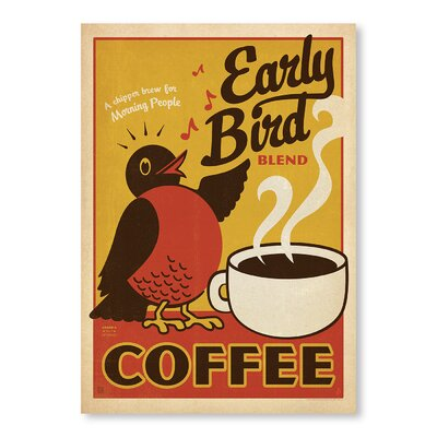 Americanflat Early Bird by Anderson Design Group Vintage Advertisement Wrapped on Canvas