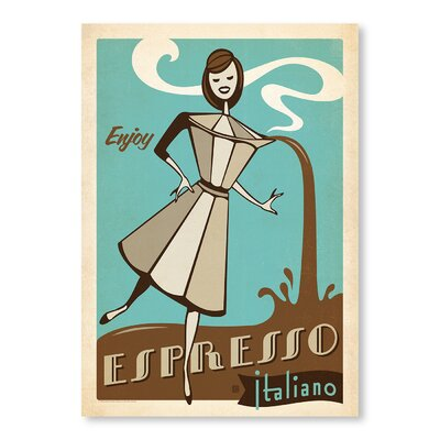 Americanflat Espresso Italiano by Anderson Design Group Vintage Advertisement Wrapped on Canvas