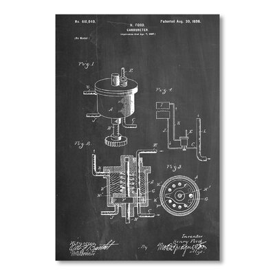 Americanflat Carbureter by House of Borders Graphic Art in Grey