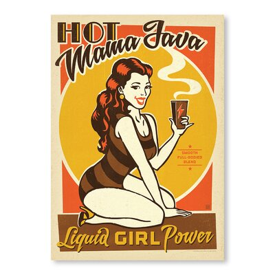 Americanflat Hot Mama Java Vintage Advertisement Wrapped on Canvas