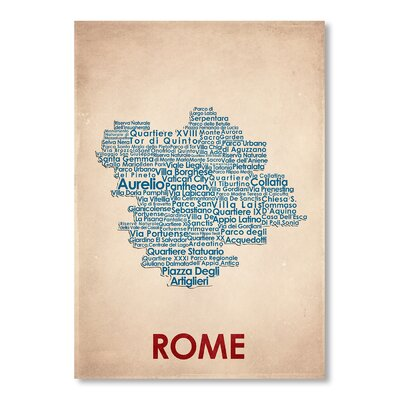 Americanflat Rome Typography Wrapped on Canvas