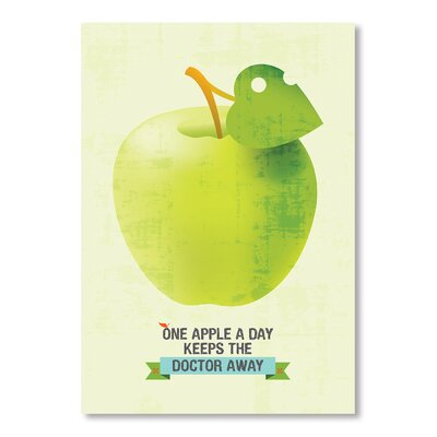 Americanflat One Apple by Patricia Pino Graphic Art in Green