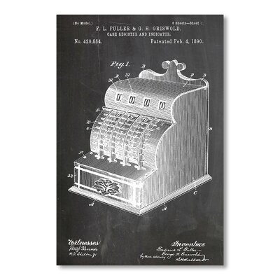 Americanflat Cash Register by House of Borders Graphic Art in Grey