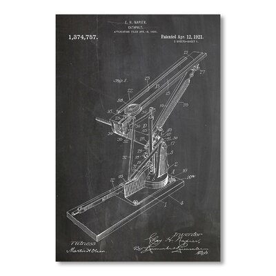 Americanflat Catapult by House of Borders Graphic Art in Grey