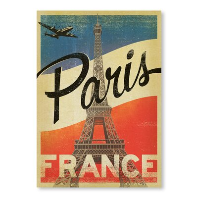 Americanflat Paris Flag by Anderson Design Group Vintage Advertisement Wrapped on Canvas