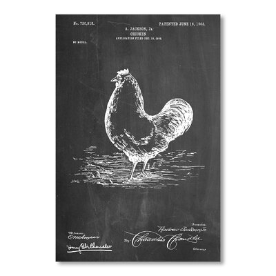 Americanflat Chicken by House of Borders Graphic Art in Grey