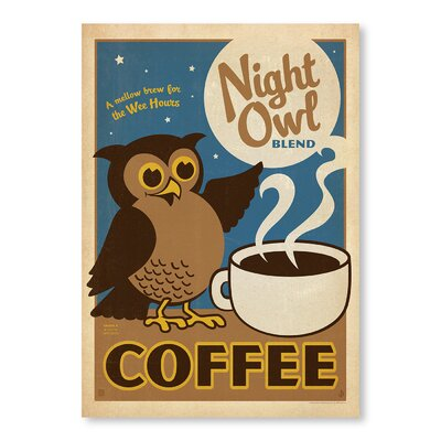 Americanflat Night Owl by Anderson Vintage Advertisement Wrapped on Canvas