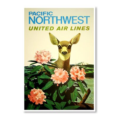 Americanflat Pacific North West by Chad Hyde Vintage Advertisement Wrapped on Canvas