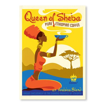 Americanflat Queen of Sheba by Anderson Design Group Vintage Advertisement in Yellow