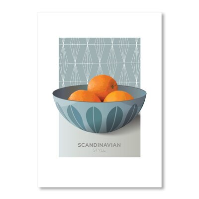 Americanflat Oranges by Liz Lyons Graphic Art Wrapped on Canvas