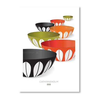 Americanflat Infinity Bowls by Liz Lyons Graphic Art Wrapped on Canvas