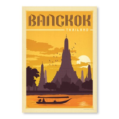 Americanflat Bangkok by Anderson Design Group Vintage Advertisement Wrapped on Canvas