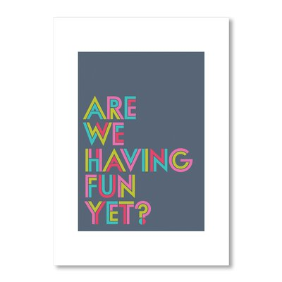 Americanflat Are We Having Fun Yet by Liz Lyons Typography in Grey