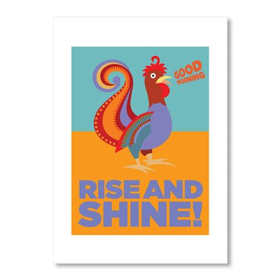 Americanflat Rise and Shine by Liz Lyons Graphic Art in Orange
