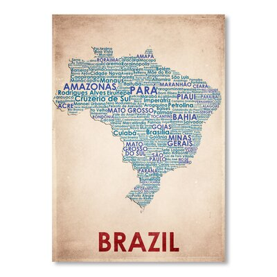 Americanflat Brazil Typography Wrapped on Canvas