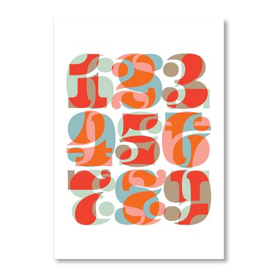 Americanflat Numbers Typography Wrapped on Canvas