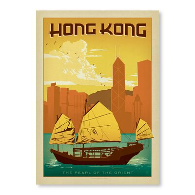 Americanflat Hong Kong by Anderson Design Group Vintage Advertisement Wrapped on Canvas