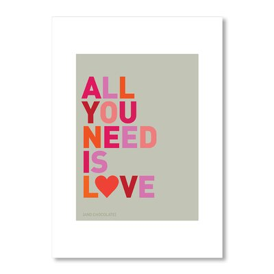 Americanflat All You Need Is Love and Chocolate by Liz Lyons Typography