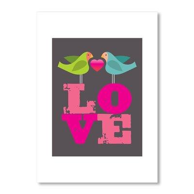 Americanflat Lovebirds by Liz Lyons Graphic Art