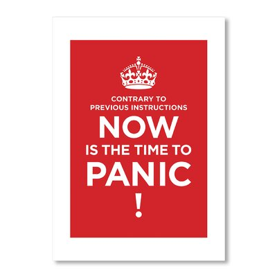 Americanflat Panic by Liz Lyons Typography in Red