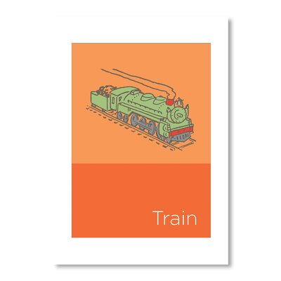 Americanflat Storybook Train by Liz Lyons Graphic Art in Orange