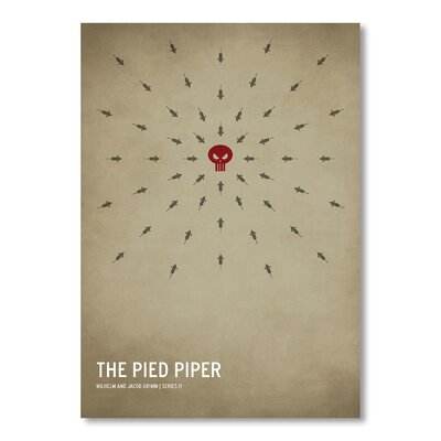 Americanflat Pied Piper by Christian Jackson Graphic Art in Beige