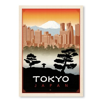 Americanflat Tokyo by  Anderson Design Group Vintage Advertisement Wrapped on Canvas