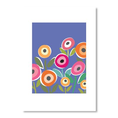 Americanflat Floripop Blue Graphic Art Wrapped on Canvas
