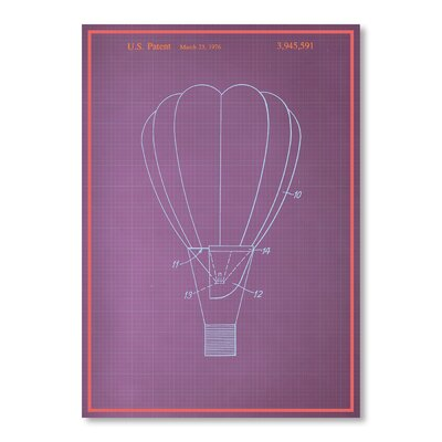 Americanflat Hot Air Balloon Graphic Art Wrapped on Canvas