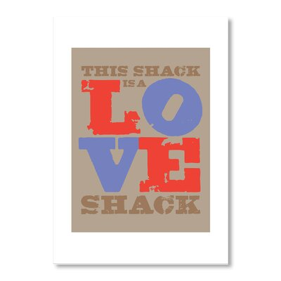 Americanflat Love Shack by Liz Lyons Typography Wrapped on Canvas