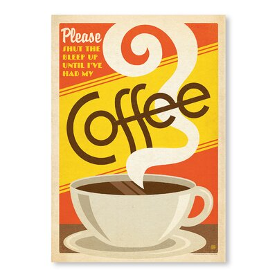 Americanflat Please Coffee Vintage Advertisement Wrapped on Canvas