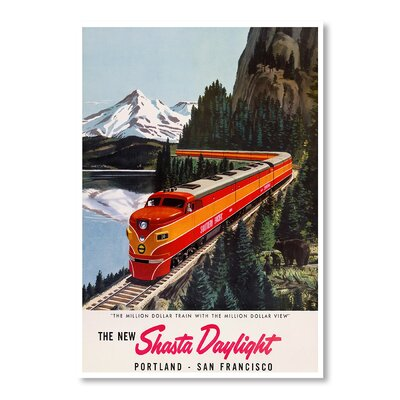 Americanflat Portland San Francisco Railroad by Chad Hyde Vintage Advertisement Wrapped on Canvas