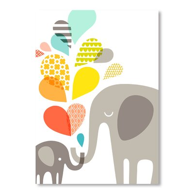 Americanflat Elephants by Jeanie Nelson Graphic Art Wrapped on Canvas