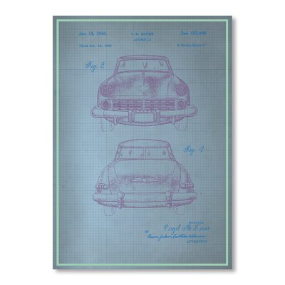 Americanflat Studebaker II Graphic Art in Blue