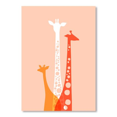 Americanflat Giraffes Trio by Jeanie Nelson Graphic Art Wrapped on Canvas