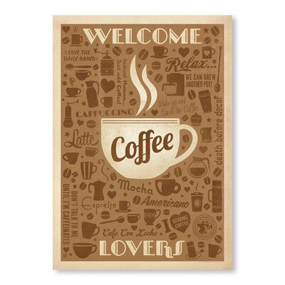 Americanflat Welcome Coffee Lovers by Anderson Design Group Vintage Advertisement Wrapped on Canvas