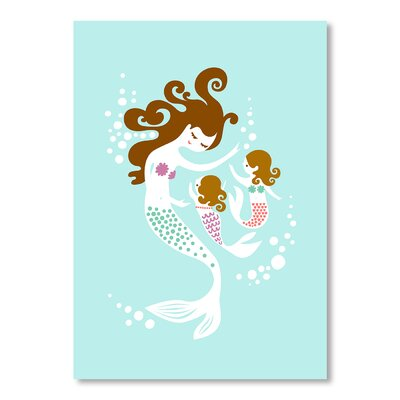 Americanflat Mermaid Daughters by Jeanie Nelson Graphic Art on Canvas