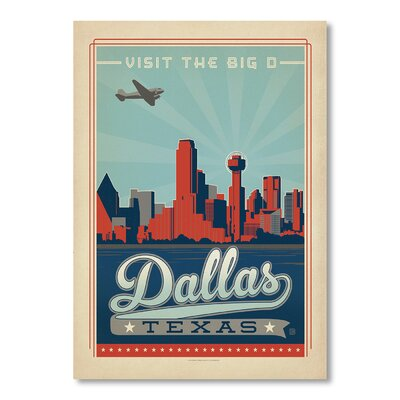 Americanflat Dallas 2 by Anderson Design Group Vintage Advertisement Wrapped on Canvas