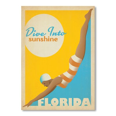 Americanflat Dive into Florida Vintage Advertisement Wrapped on Canvas