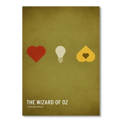 Americanflat Wizard of Oz Kid Version by Christian Jackson Graphic Art in Green