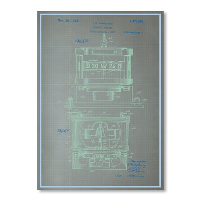 Americanflat Magnetic Compass Profile by Blue Print Images Graphic Art