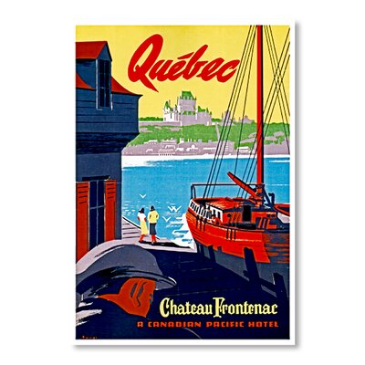 Americanflat Quebec by Chad Hyde Vintage Advertisement Wrapped on Canvas