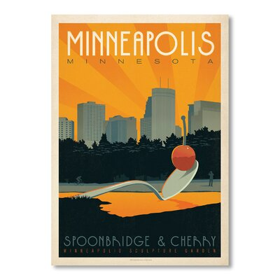 Americanflat Minneapolis II by Anderson Vintage Advertisement Wrapped on Canvas